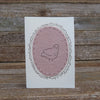 card: dusty rose bird patch