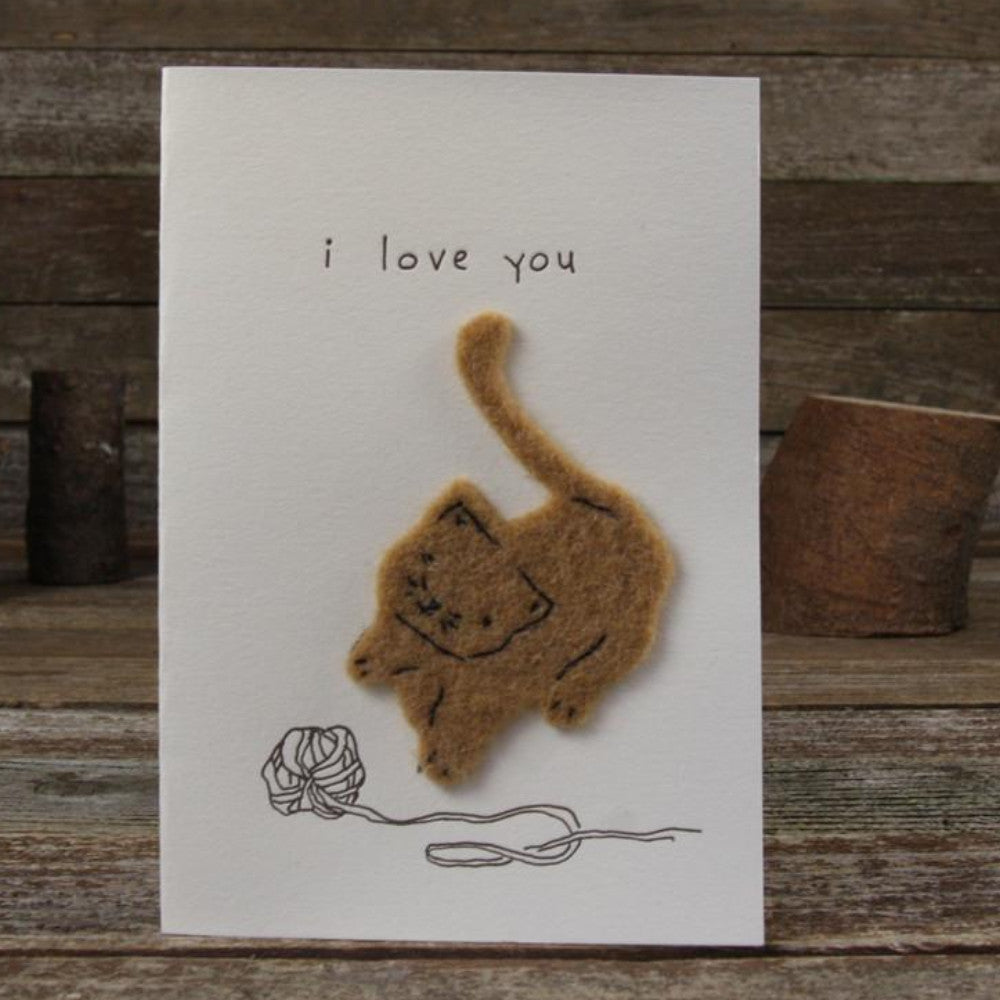 card: i love you, cat