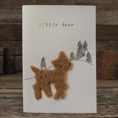 card: little dear, deer