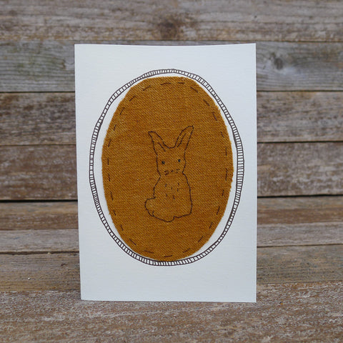 card: ochre rabbit patch