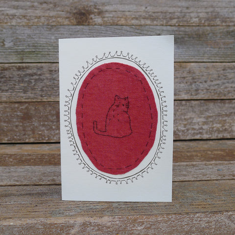card: red cat patch