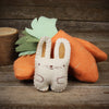 stuffed companion: carrot with bunny