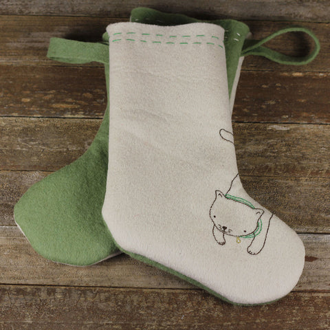christmas stocking: cat