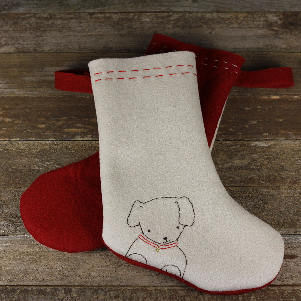 christmas stocking: dog