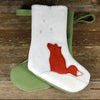 christmas stocking: fox