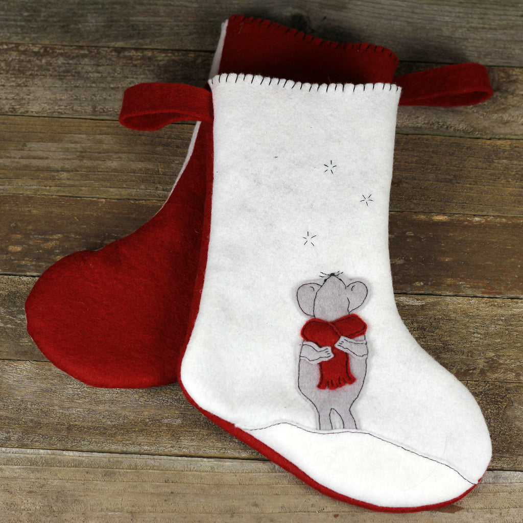 christmas stocking: mouse
