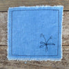 botanical mix-and-match coaster: blue