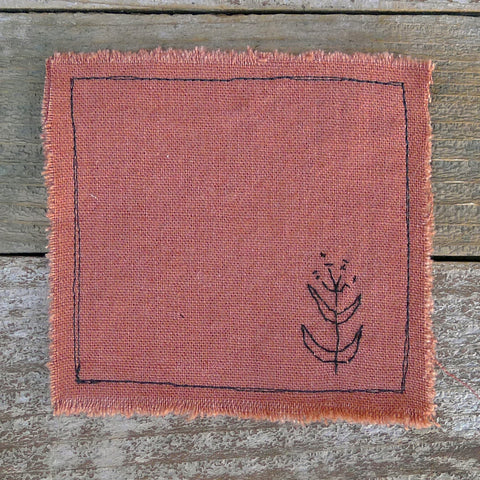 botanical mix-and-match coaster: terracotta