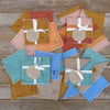 coasters: earth tones/butterflies