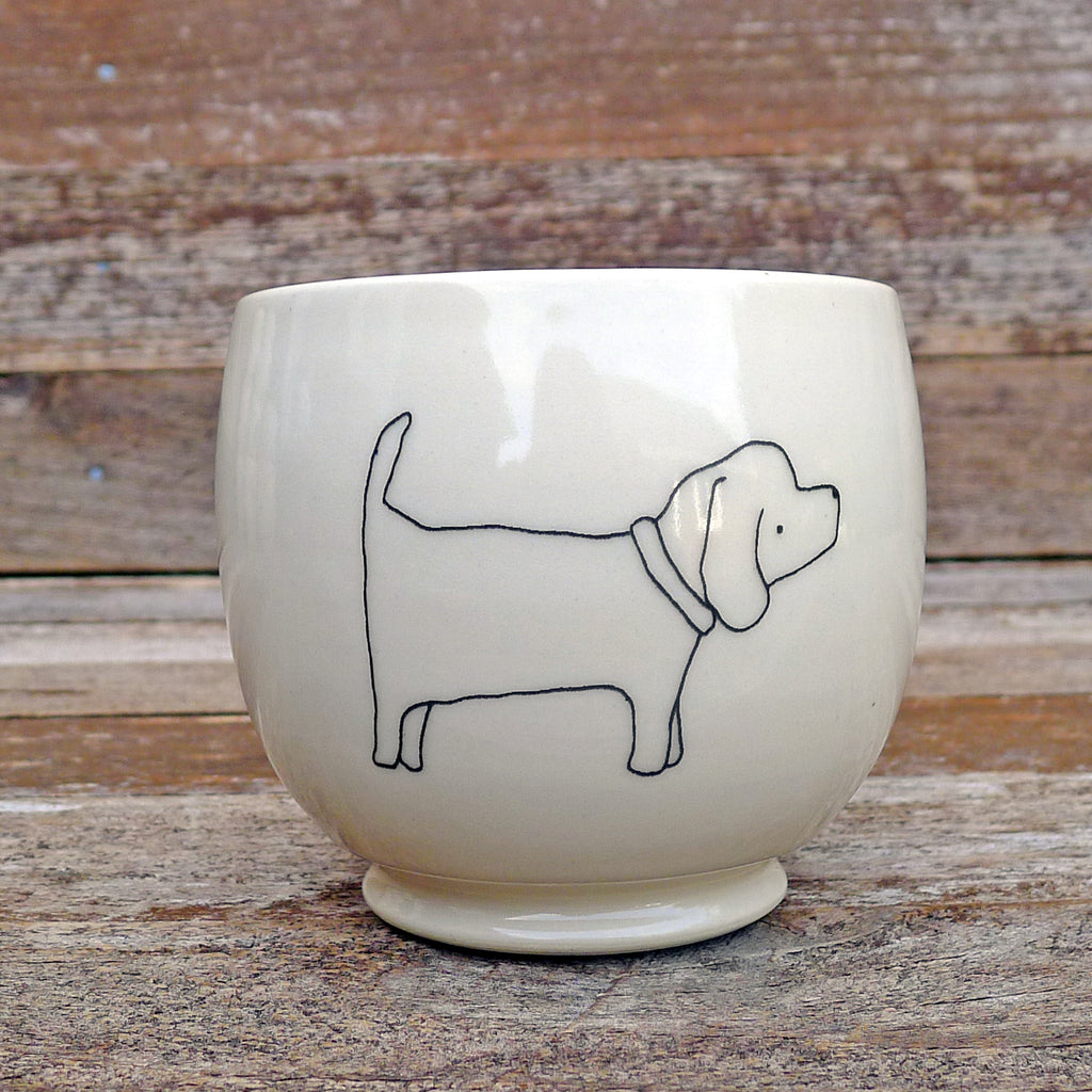 cup or planter: dog