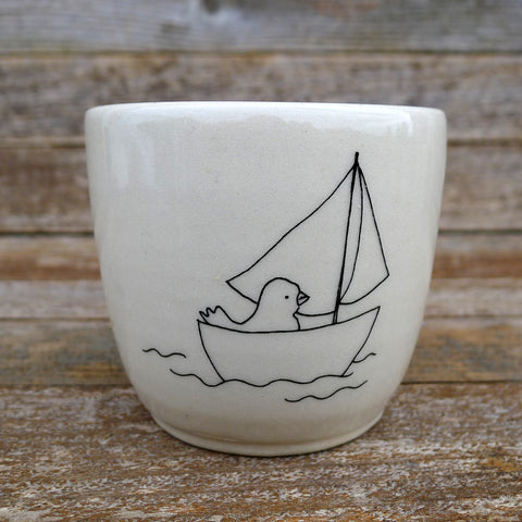 cup: duck in boat