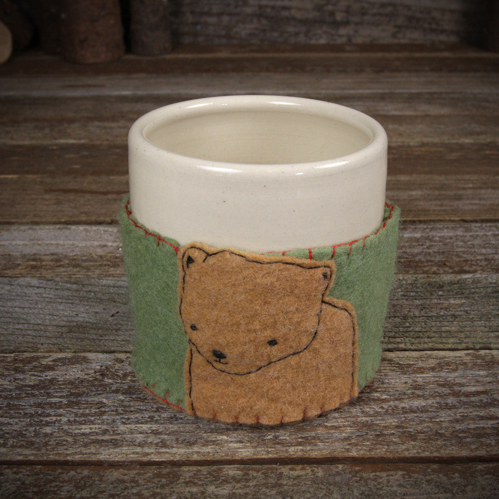 cup in cozy: bear