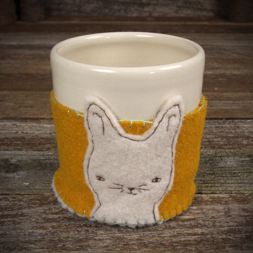 cup in cozy: rabbit