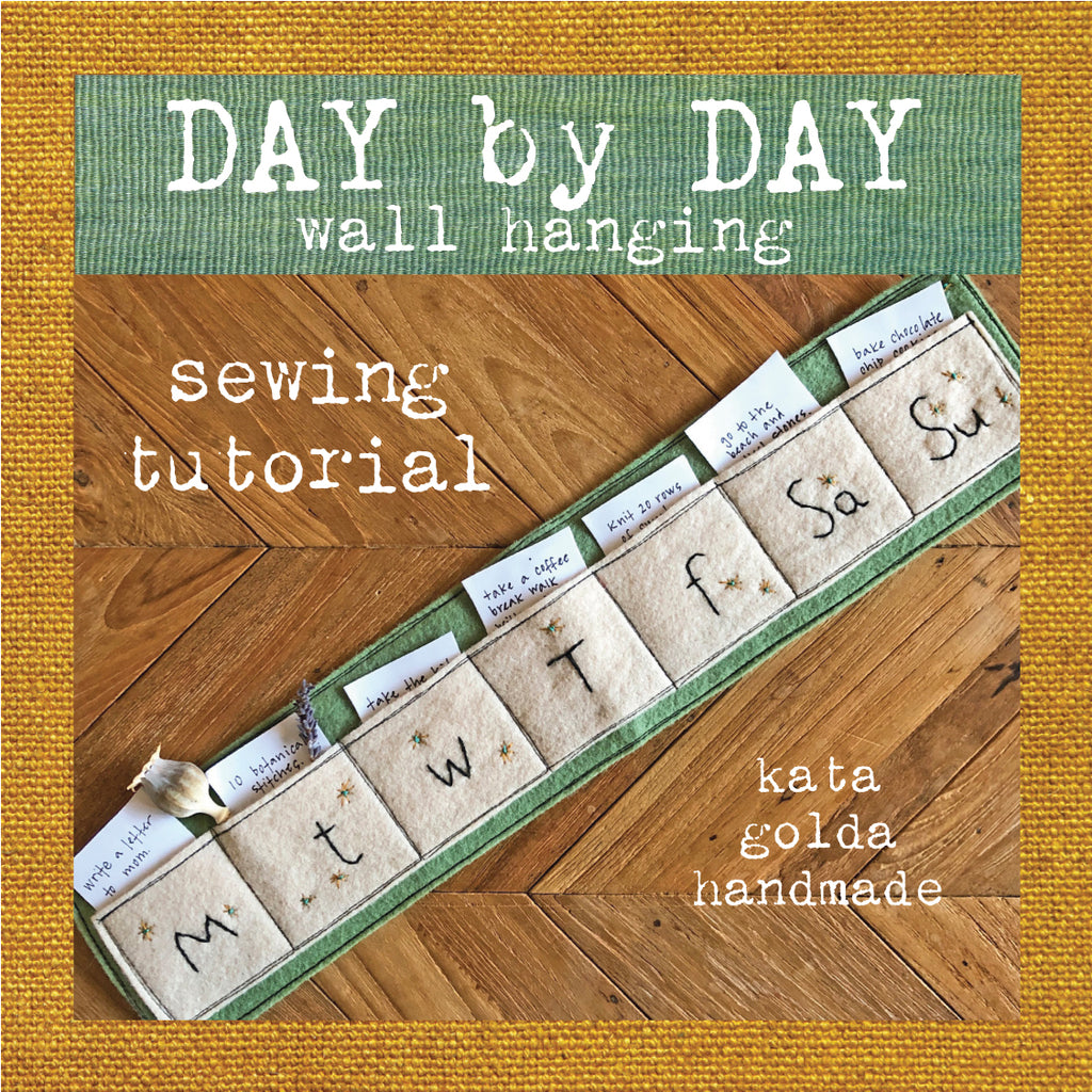 free sewing tutorial: day by day wall hanging