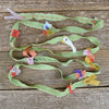 decorative silk ribbon: green