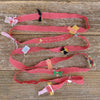 decorative silk ribbon: red