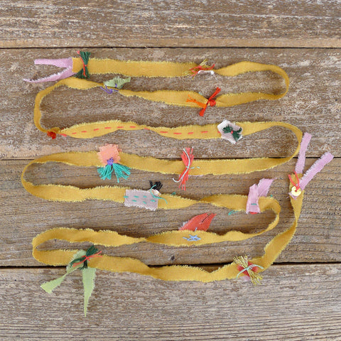 decorative silk ribbon: yellow