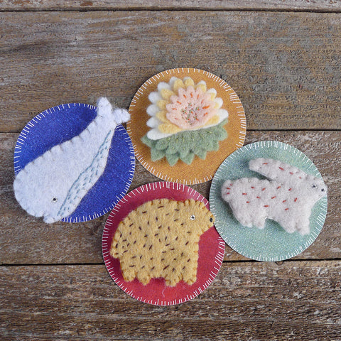 decorative wool felt pins