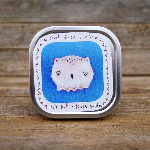 DIY pin: owl face