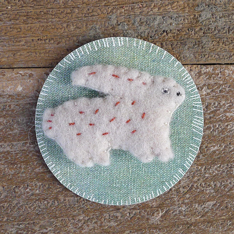 decorative wool felt pin: rabbit