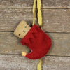 elf stocking with finger puppet: red