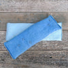 eye pillow: blue [stitched stars & plain]