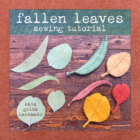 free sewing tutorial: fallen leaves