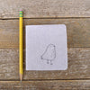 little felt journal: bird
