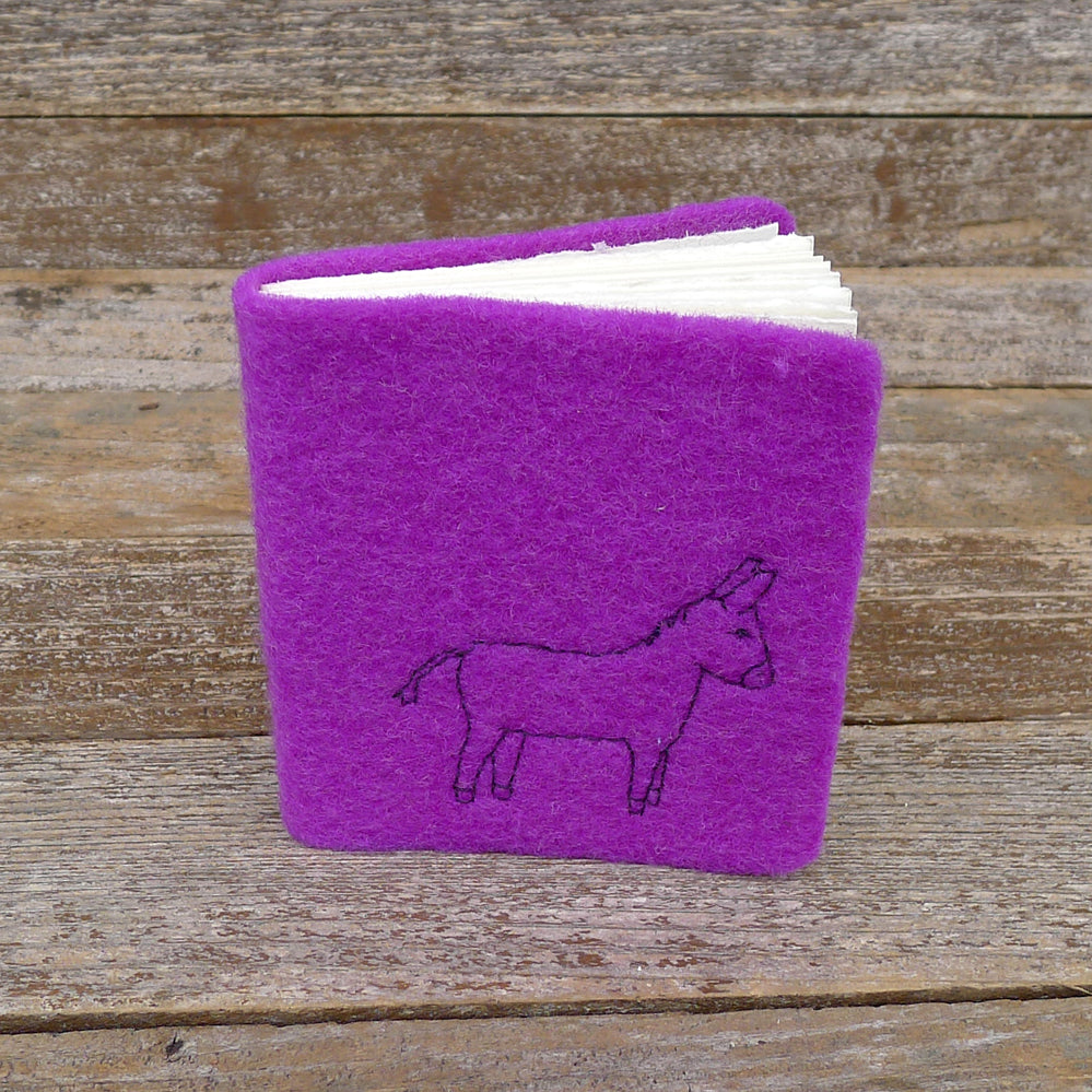 little felt journal: donkey