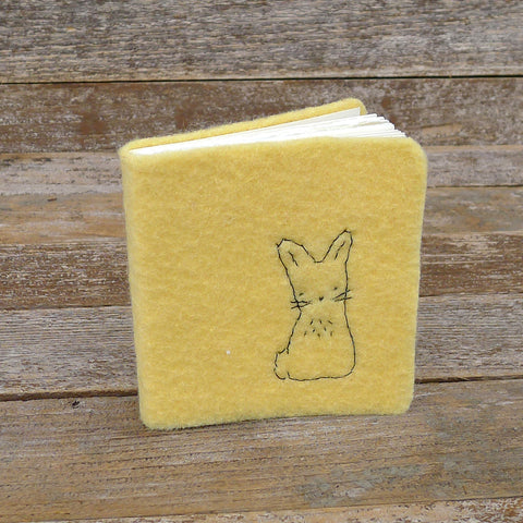 little felt journal: rabbit