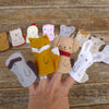 finger puppets: mama fox and pup