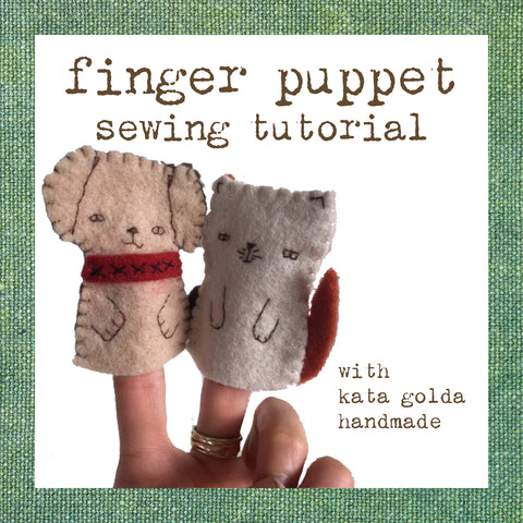 free sewing tutorial: dog & cat finger puppets