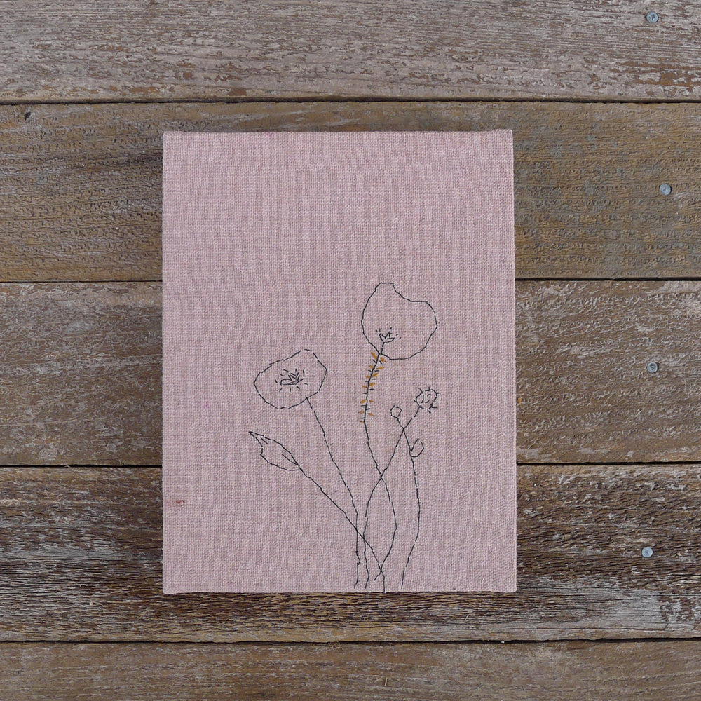 hand-bound journal: dusty rose botanical