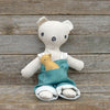 heirloom teddy bear: green overalls