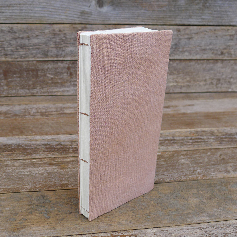 simple hemp journal: dusty rose