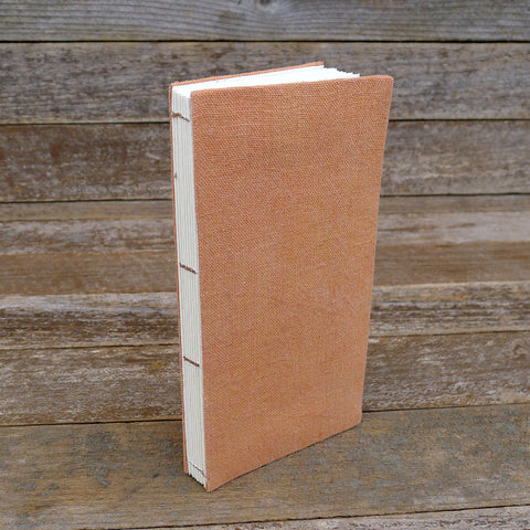 simple hemp journal: orange