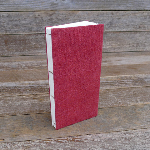 simple hemp journal: red