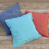plant-dyed organic cotton/hemp pillow: tree/green