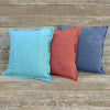 plant-dyed organic cotton/hemp pillow: feather/terracotta