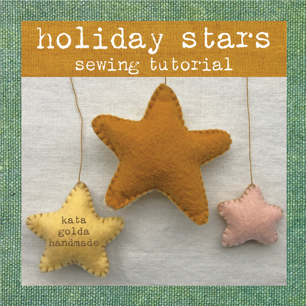 free sewing tutorial: holiday stars