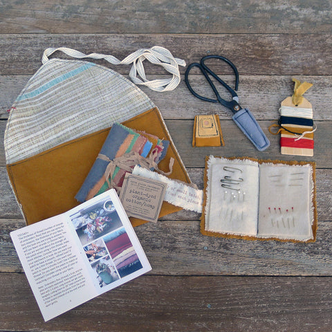 imperfect patchwork & little stitchings kit: ochre