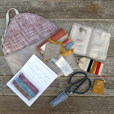 imperfect patchwork & little stitchings kit: walnut