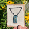 hand-stitched indigo amulet charm with adjustable clasp: dot