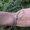 adjustable bracelet with clasp: wagonwheel lake