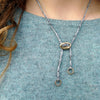 adjustable front clasp necklace: long ridge