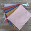 large plant-dyed zipper pouch: dusty rose