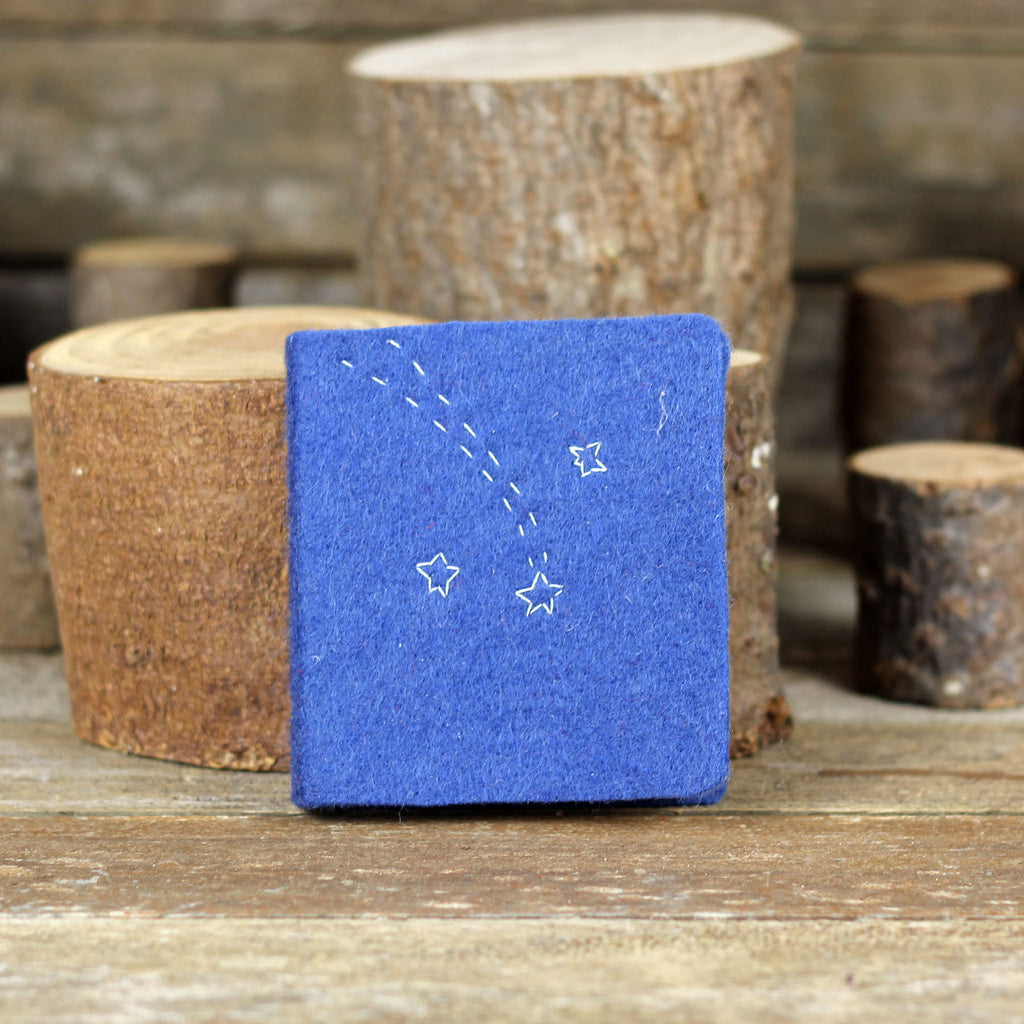 little felt journal: shooting star