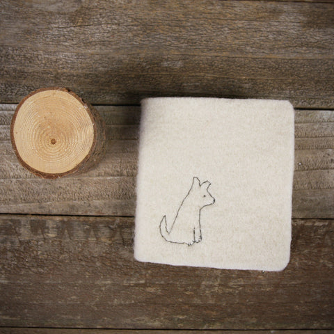 little felt journal: dog