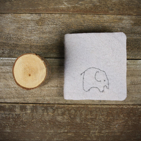little felt journal: elephant