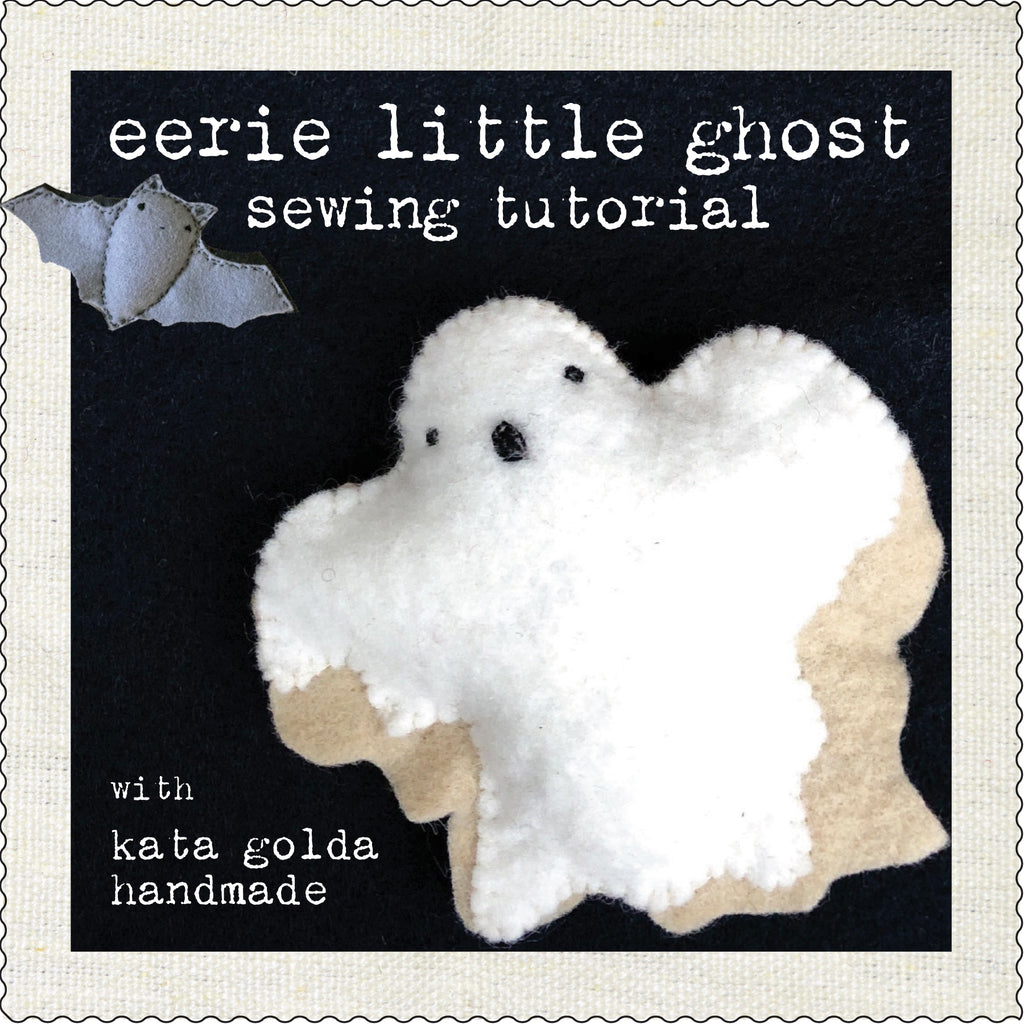 free sewing tutorial: eerie little ghost